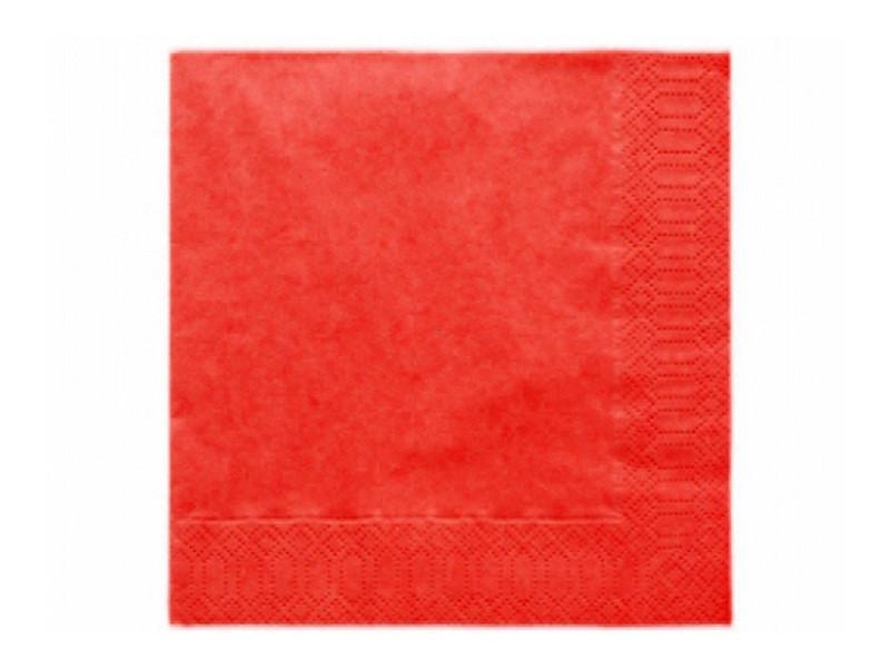 20 Serviettes jetables rouge