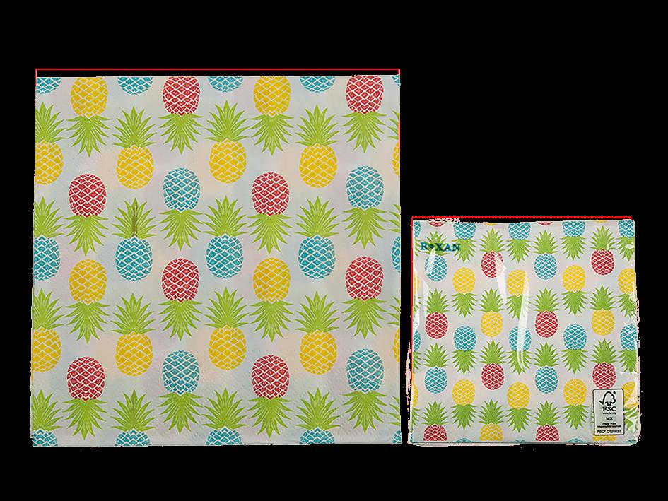 20 Serviettes en papier ananas pas chères