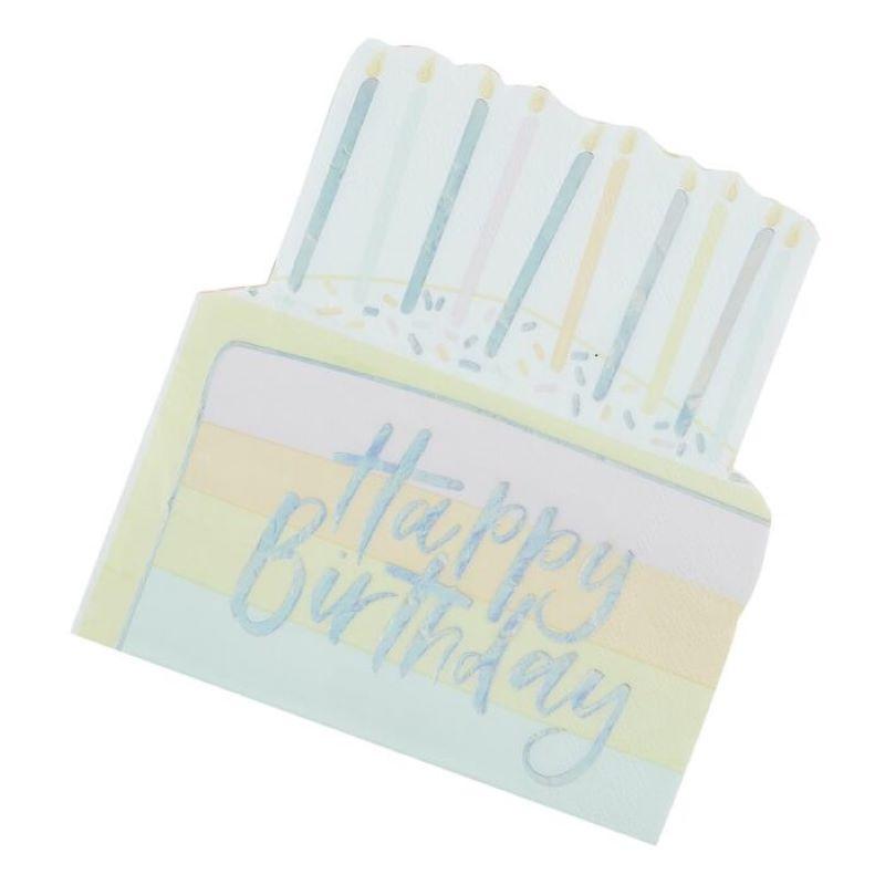 Serviettes Happy birthday