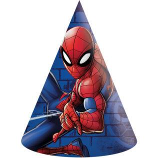 6 chapeaux de fête Spiderman
