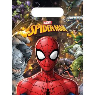 6 sacs de fête Spiderman