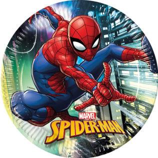 8 assiettes spiderman 23 cm