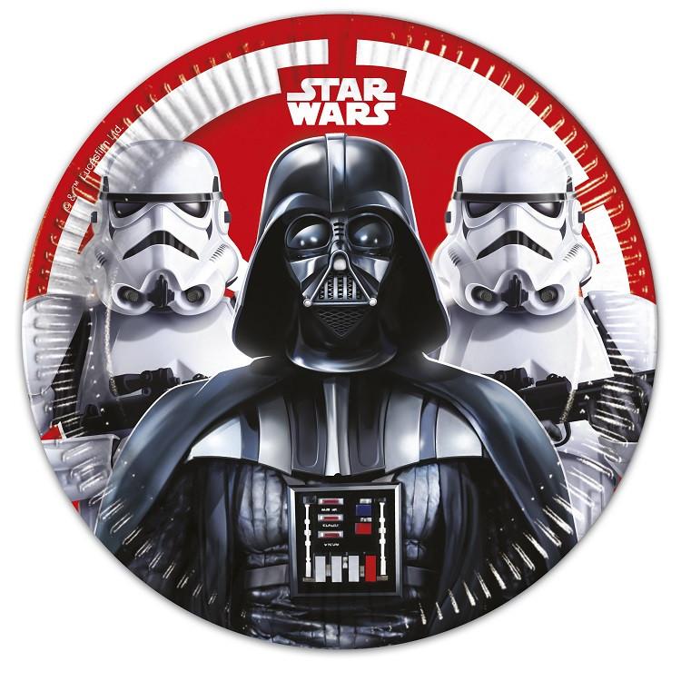 8 Assiettes Star Wars Dark Vador