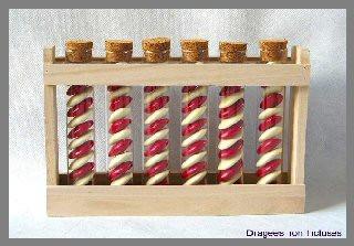Support rectangulaire en bois pour éprouvettes