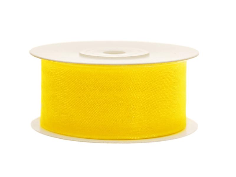 ruban organza large jaune