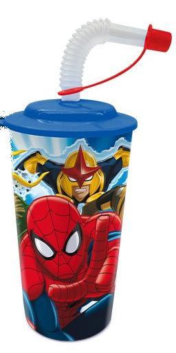 Verre à paille 3D Spiderman à petit prix