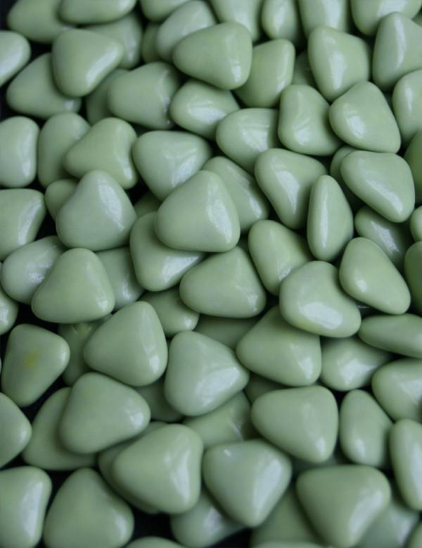 Dragées petits cœurs - vert pomme 500GR