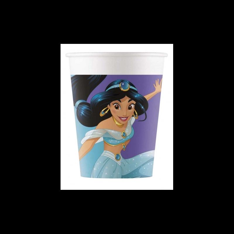 8 Gobelets en carton Princesse Jasmine