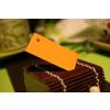 Etiquette dragees rectangle orange
