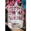 Urne cage oiseau - blanche -1