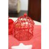 Cage en métal - rouge - 5,5 cm