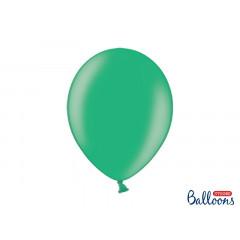 50 ballons verts métalliques