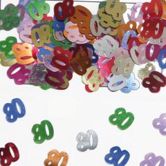Confettis multicolores 80 ans