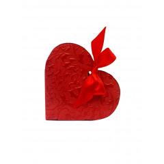 10 Boîtes à dragées coeur rouge