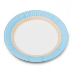 12 assiettes bleues et blanches