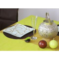 Sets de table ronds intissés - x50 - chocolat