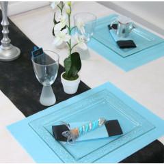Sets de table rectangulaires intissés - ciel - x50