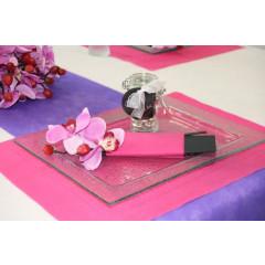Sets de table rectangulaires intissés - fuchsia - x50