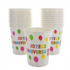 10 Gobelets Joyeux Anniversaire