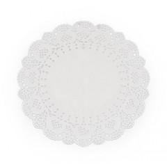 6 napperons dentelle blancs 16,5 cm