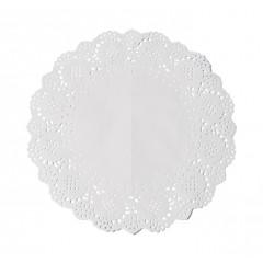 6 napperons dentelle blancs 26,5 cm