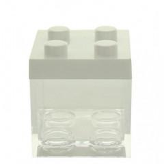 3 contenants à dragées lego blanc