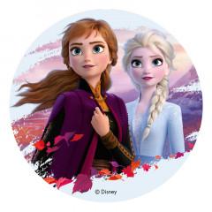 disque decoration gateau anniversaire reine des neiges