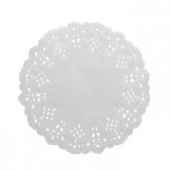 10 napperons papier dentelle blancs - 11,5 cm