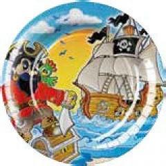 8 Assiettes Pirate 23 cm