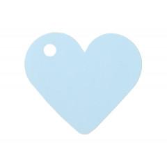 10 Etiquettes Dragées Coeur Bleu