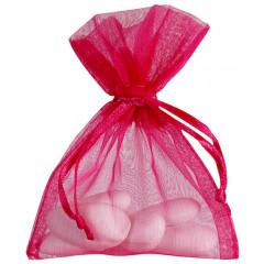Sacs en organdi PM - fuchsia 7 cm x 9 cm