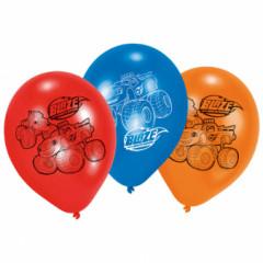 6 Ballons latex Blaze 22,8 cm