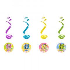 4 suspensions spirales 18 ans