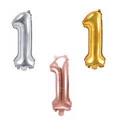 Ballon chiffre 1 - 35cm - Coloris au choix
