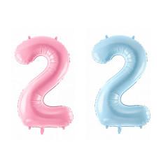 Ballon chiffre 2 - 86 cm - couleur au choix