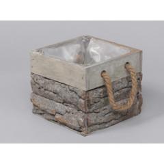 Cube en bois - 14 x 14 x 12 cm