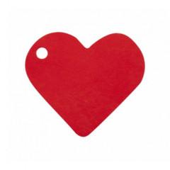 Etiquette coeur rouge x12