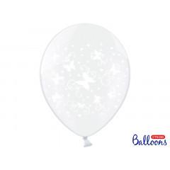 Ballon transparent papillons x6