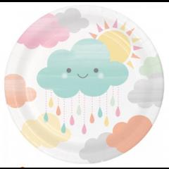 8 petites Assiettes nuage