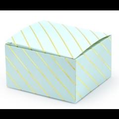 x10 boites dragées bleues rayées or