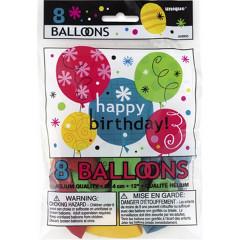 8 ballons Breezy Birthday