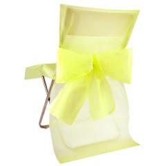 Housses de chaise noeud jaune