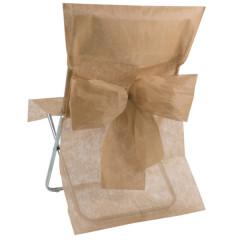 Housses de chaise avec noeud taupe -1
