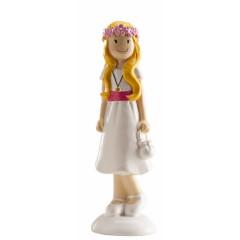 Figurine de communion - Fille endimanchée
