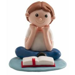 Figurine de communion - Garçon assis
