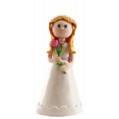 Figurine de communion - Fille avec fleurs