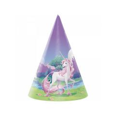 8 x Chapeau Anniversaire Licorne Violet