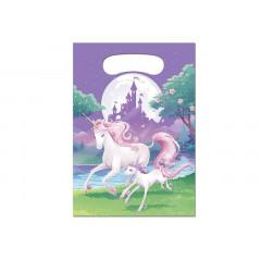 8 x Sachet anniversaire licorne violet