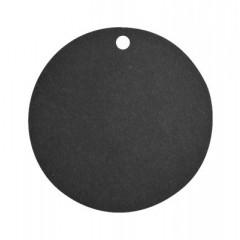 Etiquettes rondes - noir x 10