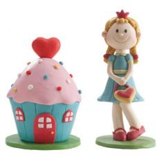 Figurine Princesse Clay et sa maison